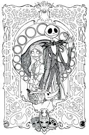 Coloring Pages Nightmare Before Christmas Coloring Pages Printable