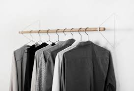 hanging clothes rod from slanted ceiling