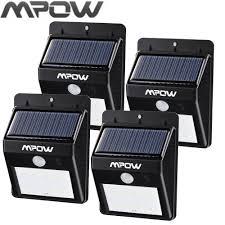 Us 1687 Mpow Led Solar Verlichting Outdoor Motion Sensor Tuin Waterdichte Solar Lamp Beveiliging Draadloze Pathway Solar Muur Lampion In Mpow Led
