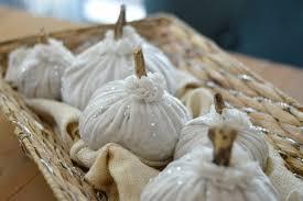 diy white velvet pumpkins
