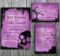 Halloween Wedding Invitations Halloween Wedding Invitation Suite With Skull By Langdesignshop