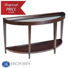 semi circle table console glass semicircle double wooden brown fashion living top plate round shape antique