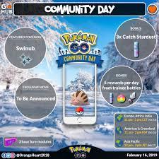 Swinub Community Day Announced Pokemon Go Hub