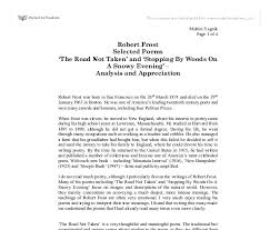 robert frost selected poems the road not taken and stopping document image preview