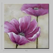 mintura mt160375 unframed hand painted purple flowers canvas oil painting for decor