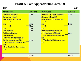 Profit And Loss Appropriation Account In 2019 Accounting