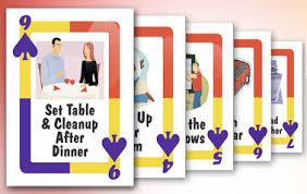 Deck Of Chores Unclutterer
