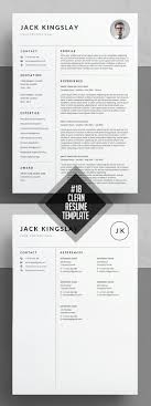 modern clean resume template clean and minimal resume templates design graphic design
