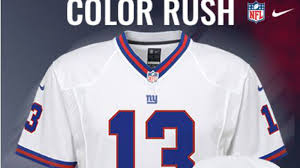 White - Jersey Classic Rush Big Feature Blue Color View Giants' Look Will Throwback