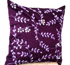 Throw Pillows for Sofa | Decorative Pillows for Bed | Purple Throw Pillows