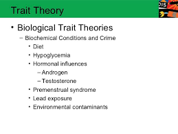 Biological Theory Trait Theory Biological Trait Theories Biochemical