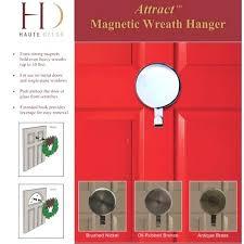magnetic door hanger wreath brushed nickel post image magnetic monogram door hanger magnetic door hanger