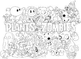 Small Picture vs zombies coloring pages