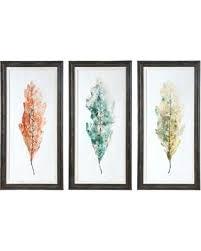 sets of 3 wall art set of 3 wall art uttermost tricolor leaves abstract wall art sets of 3 wall art