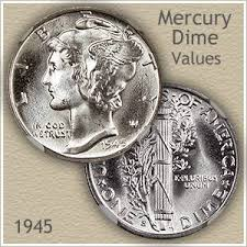 Us Dime Value Chart 1945 Dime Value Discover Your Mercury Head Dime Worth