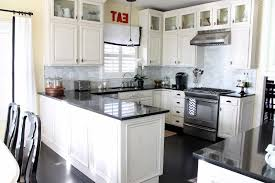 Off White Kitchen Off White Kitchen Cabinets With Black Appliances Kitchen Crafters