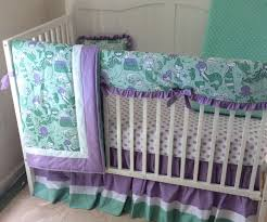 beautiful mermaid baby girl crib bedding in lavender and mint made to mermaid baby bedding