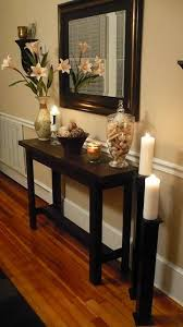 long hallway table. Hallway Table For-the-home. I Love The Tall Candle Holders! This Would Work In Any With A Minimum Of - You Need At Least Walk Space. Very Long