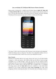 Low-Cost Nokia 207/208(dual sim ...