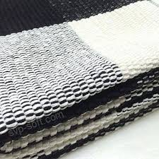 100 cotton rugs rug hand woven checd carpet braided kitchen mat black and white washable