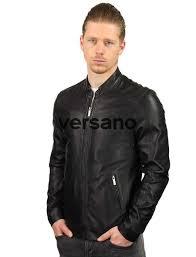leather jacket men black tr36s versano front model2