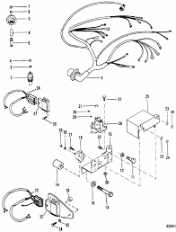 mercruiser thunderbolt v wiring diagram wirdig parts for mercruiser 5 7l competition ski gm 350 v 8 1987 1995 wiring