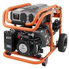 ridgid watt idle down gasoline powered electric start 6 800 watt idle down gasoline powered electric start portable generator yamaha mz360