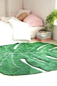 palm leaf rug print