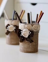 diy office decor. diy home office decor ideas easy to make burlap pencil holder do it yourself diy