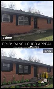 Ranch House Curb Appeal Brick Ranch Curb Appeal Mockup O Ad Aesthetic