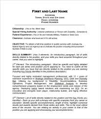 Federal Resume Template Federal Resume Template 10 Free Word Excel Pdf  Format Download Ideas