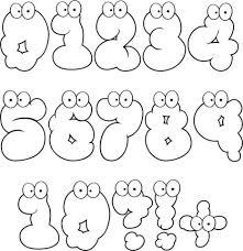 Disegno Di Numeri Cartooneschi 0 10 Da Colorare Disegni Da