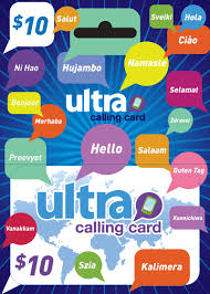 ultra calling card packaging