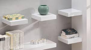 White Floating Shelf Small White Floating Shelf 250x250x50mm