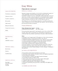 Sample Manager Resume Unique 28 Operations Manager Resume Free Sample Example Format Free