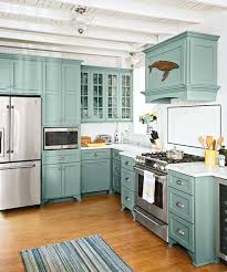 Attractive Design Beach Kitchen Decor From Musty To Must See Teal Cabinets