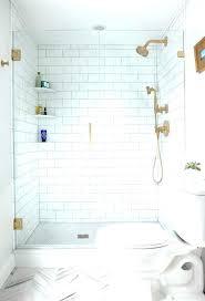 builtin shower bathroom
