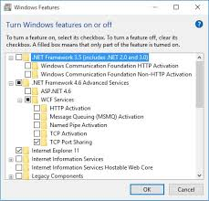enable net framework 3 5 in windows 10