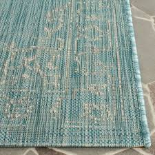 imagination safavieh courtyard rug turquoise indoor outdoor easy clean rugs clearance patio area mat long x