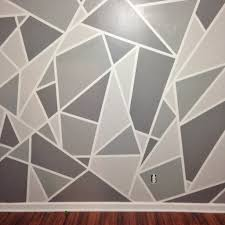 Painted Wall Designs Project Nursery V1 A Geometric Mosaic Wall In Grey Ombre