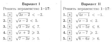 Контрольная работа по теме Иррациональные неравенства класс  hello html m640780f9 jpg