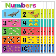 Teacher Created Resources Colorful Numbers 1 10 Chart 6ct