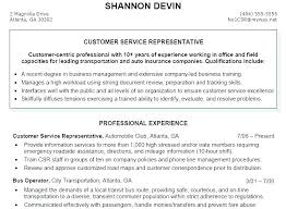 Customer Service Example Resume Functional Summary Resume Examples ...