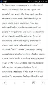word essay on why we want social media in  jpg