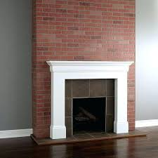 painted brick fireplace before and after painted paint brick fireplace red