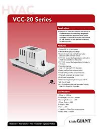 little giant vcc 20uls 1 30 hp low profile tank condensate removal little giant