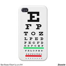 Eye Exam Chart Case For Iphone 4 Eye Charts Iphone Case