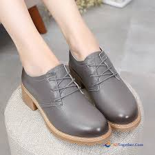 casual genuine leather spring pumps big size thick leather shoes