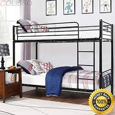 Black bedroom furniture for girls Chocolate Bedroom Colibrox Metal Twin Over Twin Bunk Beds Ladder Kids Teens Dorm Bedroom Furniture Black Metal Amazoncom Amazoncom Colibrox Metal Twin Over Twin Bunk Beds Ladder Kids
