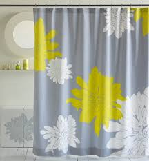 delightful design bathroom shower curtains come with yellow white grey